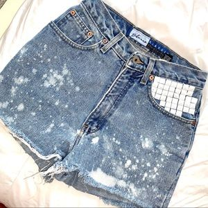 Vintage Handmade Denim Studded Jean Shorts